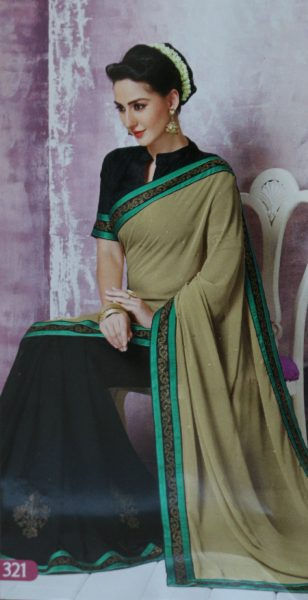 beige-sari-with-green-black-border-gold-stones-731-p