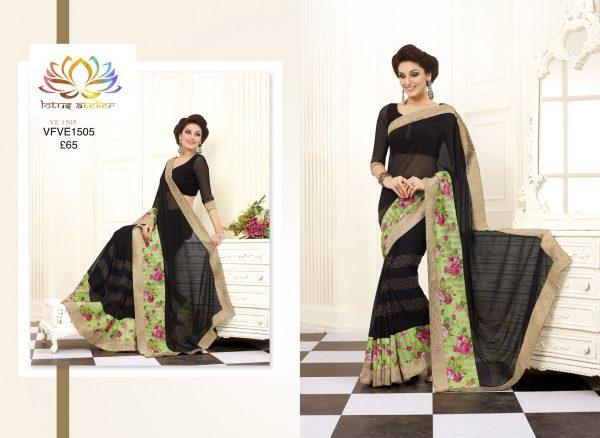black-sari-with-green-floral-border-1376-p