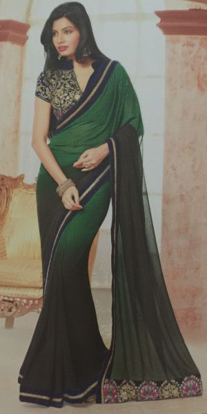 bottle-green-brown-sari-with-thread-work-489-p