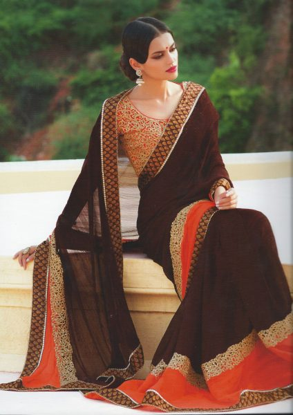 orange-sari-with-brown-border-gold-beads-380-p