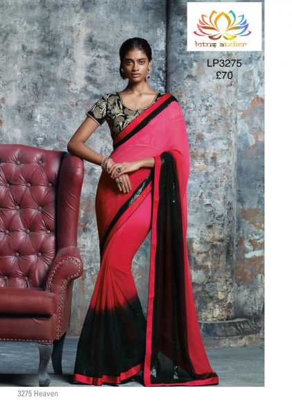 red-pink-black-shaded-sari-with-black-squin-border-1272-p