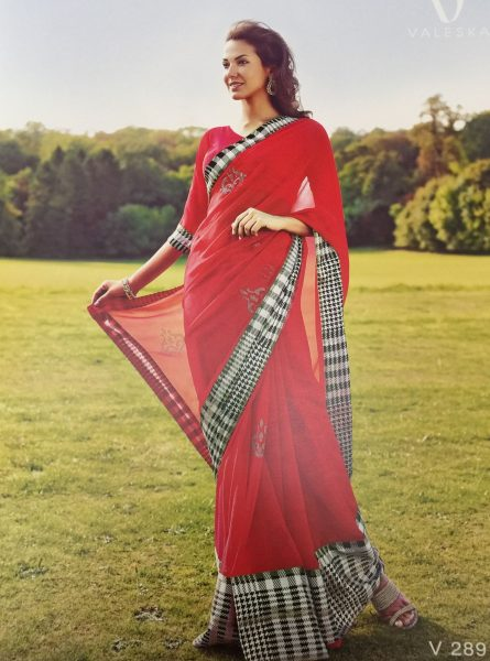 red-sari-with-black-check-border-624-p