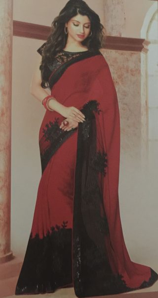 red-sari-withblack-lace-490-p