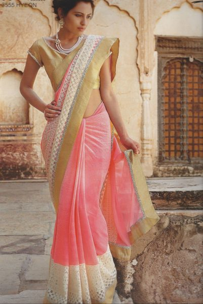 salmon-white-lace-sari-with-gold-border-353-p