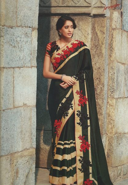 sari-black-with-red-flowers-gold-border-331-p