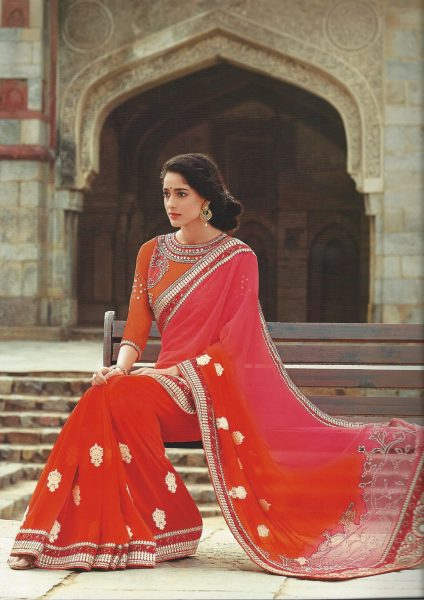 sari-orange-with-beads-border-mirrors-340-p