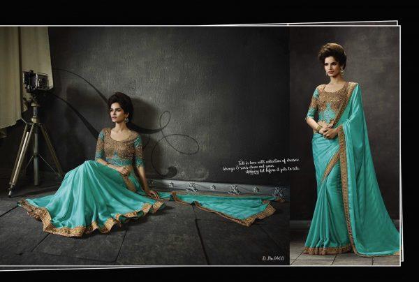 turquoise-blue-gold-border-sari-309-p