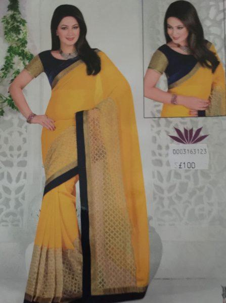 yellow-sari-with-net-gold-border-701-p